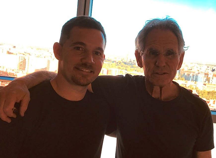 El Dr. Manuel Paz y Jon Kabat-Zinn, Zaragoza 2018